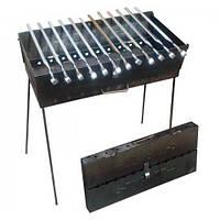 Раскладной мангал чемодан на 12 шампуров