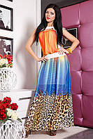 Шифоновое яркое платье в пол Алена от Медини
