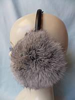 Меховые наушники из натурального меха кролика