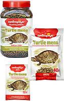 """Корм для черепах Аквариус """"Меню для черепах"""", палочки (пакет 40 г)"""