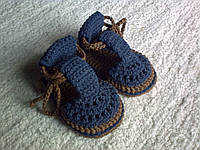 Пинетки сандалики для мальчика. 10 см.