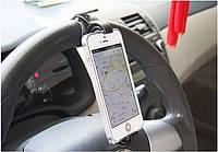 Держатель для телефона на руль автомобиля и велосипеда Черный