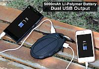 Внешний аккумулятор (PowerBank) на солнечной батарее 5000mAh Waterproof Shockproof IP65 Solar Panel