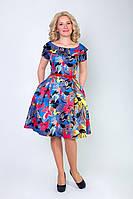 Нарядное женское платье в цветочный принт