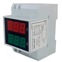 Амперметр-вольтметр переменного тока 100А на микроконтроллере электронный цифровой