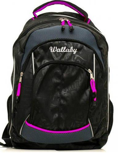 Молодежный городской рюкзак  20 л. Wallaby, 129 черный