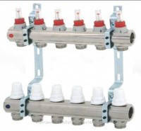 Коллектор (гребенка)с расходомером вентильный Icma на 11 выходов 3/4*11 с плавной регулиркой и фитингом