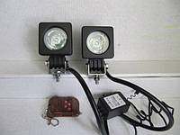 Стробоскопы  LED 11-10 W с пультом Д/У.