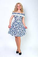 Женское платье с модным принтом Романс