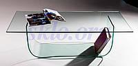 Crus эксклюзивный журнальный стол из стекла