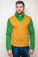Рубашка-обманка с жилетом TOS 5062