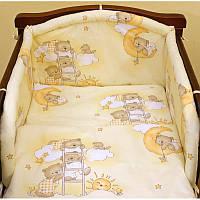 Защита в детскую кроватку Мишка на лестнице 100% хлопок ТМ Медисон Украина