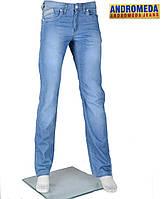 Джинсы  светлые,Стильные летние  брюки .29-32 размер
