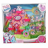 Карусель для пони 789 My Little Pony. Карусель, две пони, аксессуары; Звуковые и световые эффекты.