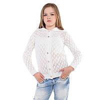 """Кофта для девочек """"Аленка"""" -белая.Код-1303."""