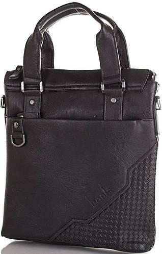 Великолепная мужская борсетка-сумка из качественного кожзама BONIS (БОНИС) SHIL8500-black черный