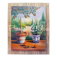 Картина 'Мандариновое дерево', 24х30 см.