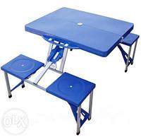 Раскладной стол со стульями для кемпинга «HXPT-8821-В» Доставка по Киеву и Новой почтой по Украине
