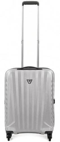 Дорожный малый чемодан из прочного пластика 35 л. Roncato UNO ZIP 5083/25 серебристый