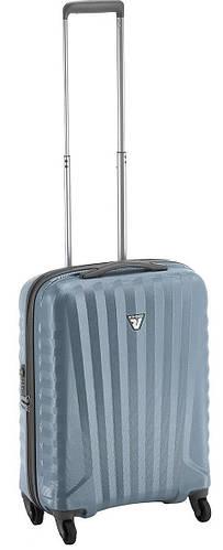 Оригинальный пластиковый прочный чемодан 35 л. Roncato UNO ZIP 5083/43 голубой