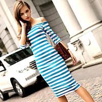 Платье в полоску. Синее и черное
