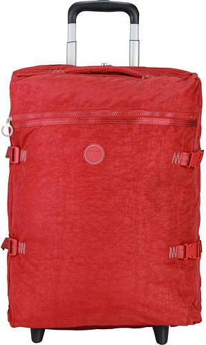 Красная дорожная сумка на колесах 35 л. Roncato Rolling 7123/09