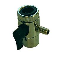 Дивертор верхний металлический с муфтой для внешнего фильтра