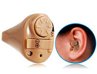 Внутриканальный усилитель слуха AXON K82, на батарейке, увеличивает звук на 48 дБ, минимизирует шумы