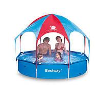 """Каркасный бассейн BestWay 56193 """"С зонтиком и душем""""  244х51"""