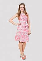 Отличное женское платье с принтом модного кроя из натуральной ткани