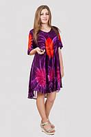 Красочное летнее платье из натуральной ткани модной расцветки