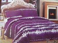 Покрывало  на кровать евро размер фиолетовое
