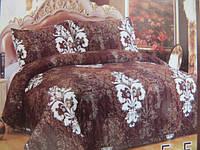 Плед на кровать евро размер коричневое