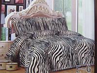 Покрывало -плед на кровать евро размер зебра