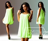 Красивое летнее легкое короткое шифоновое платье