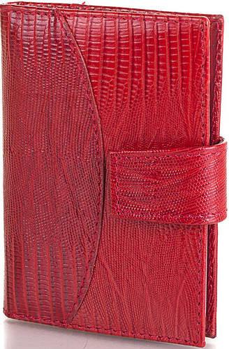 Замечательная кожаная женская визитница CANPELLINI (КАНПЕЛЛИНИ) SHI050-1 красный