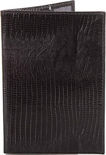 Мужская стильная кожаная обложка для паспорта  CANPELLINI (КАНПЕЛЛИНИ) SHI001 черный