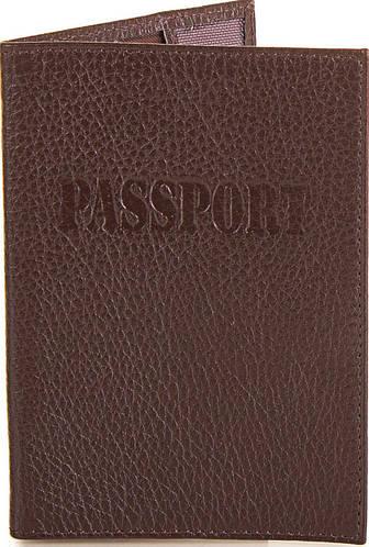 Мужская качественная кожаная обложка для паспорта  CANPELLINI (КАНПЕЛЛИНИ) SHI002 коричневый