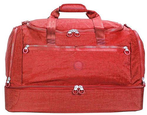 Дорожная оригинальная сумка из прочного нейлона 60 л. Roncato Rolling 7120/03 красный