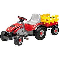 Трактор педальный Peg Perego MINI TONY TIGRE с прицепом CD0529