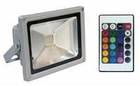 Прожектор светодиодный Feron LL-181 RGB + пульт 20W IP65 1Led