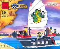 301  «Пиратский корабль» Конструктор BRICK 211 дет.