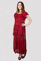 Красивое женское платье свободного кроя больших размеров