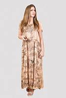Милое женское платье из хлопка с модным принтом