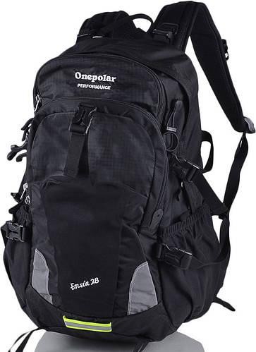 Треккинговый вместительный женский туристический рюкзак 28 л. Onepolar (Ванполар) W1729-black чёрный