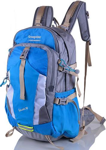 Треккинговый рюкзак туристический 28 л. Onepolar (Ванполар) W1729-blue голубой