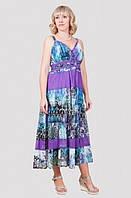 Модное летнее платье свободного кроя с коротким рукавом