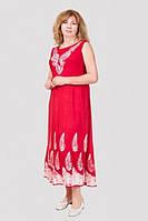 Яркое женское платье с модным принтом  из натуральной ткани