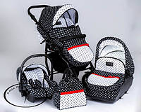 Детская универсальная коляска 3 в 1 DPG Glamour Dots