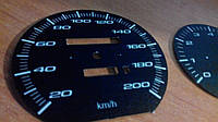 Шкалы приборов Volvo 240 прозрачные